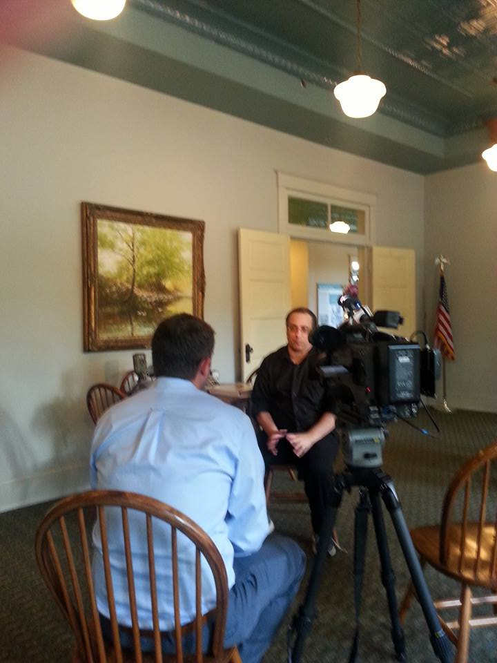 Channel 2 News-Bret Remenda interviewing Mike Sears