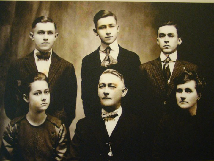 Mr Halbrook with his family, The original owner and builder of the Hotel.