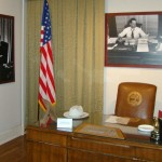 Governor Frank Clement Desk on display. Frank was born at the Halbrook.